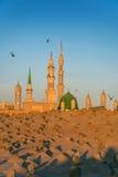 Muslimsk kyrkogård på den Nabawi moskén i Madinah Royaltyfria Bilder
