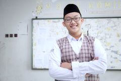 Muslimsk lärare Arkivbild