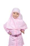 Muslimsk liten flicka Arkivfoton