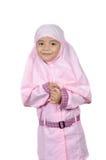 Muslimsk liten flicka Arkivbild
