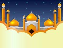 Muslimsk moskéillustration royaltyfri illustrationer