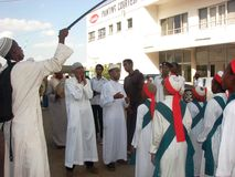 Muslimsk Qasida grupp, beröm för Milad FN Nabi Royaltyfri Bild