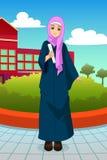 Muslimsk studentDuring School Graduation illustration vektor illustrationer