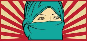 Muslimska kvinnor Arkivfoton