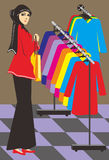 Muslimska kvinnor shoppar Arkivbilder
