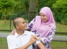 Muslimska par Royaltyfria Foton