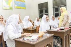 Muslimska studenter Fotografering för Bildbyråer