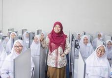 Muslimska studenter Royaltyfria Bilder
