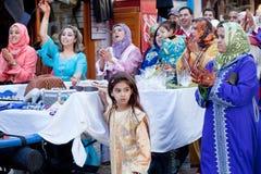 Muslimskt bröllop, Marocko Arkivfoto