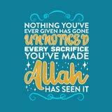 Muslimskt citationstecken och säga som är bra för tryckdesign stock illustrationer