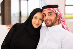 Muslimskt gift par royaltyfri fotografi