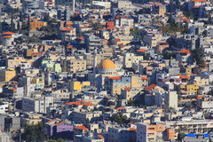 Muslimskt område i Kfar Kana (Cana av Galilee), Israel Arkivbilder