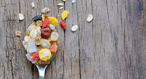 Muslin cereal stock image