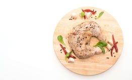Muslo adobado del pollo Imagen de archivo