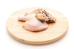 Muslo adobado del pollo Fotos de archivo