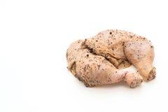 Muslo adobado del pollo Fotos de archivo libres de regalías