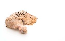 Muslo adobado del pollo Fotografía de archivo libre de regalías