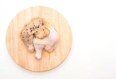Muslo adobado del pollo Fotografía de archivo