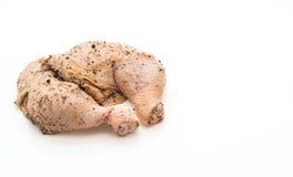 Muslo adobado del pollo Imágenes de archivo libres de regalías