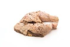 Muslo adobado del pollo Imagenes de archivo