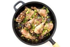 Muslos del pollo Foto de archivo libre de regalías