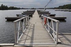 Musoka湖和港口 免版税库存图片