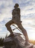 Mussa jalil雕象在克里姆林宫,喀山,俄联盟 库存照片