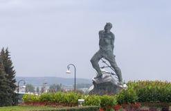 Mussa jalil雕象在克里姆林宫,喀山,俄联盟 图库摄影