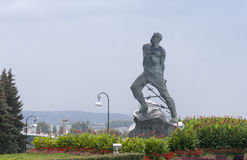 Mussa jalil standbeeld in het Kremlin, kazan, Russische federatie stock fotografie