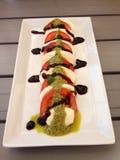 Mussarela & tomate Imagem de Stock