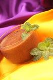 A musse de chocolate decora Imagens de Stock