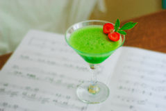 Musse verde fresca da maçã Fotografia de Stock Royalty Free