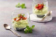 Musse verde fresca do abacate Foto de Stock