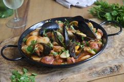 Mussel and bean stew Royalty Free Stock Photo