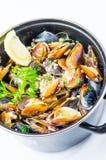 Mussel and calamari salad Royalty Free Stock Photo