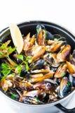 Mussel and calamari salad Royalty Free Stock Image