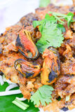 Mussel fried in egg batter. Thailand's most popular foreign cuisine Stock Photo