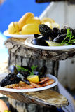 Mussel and lemon Royalty Free Stock Photo