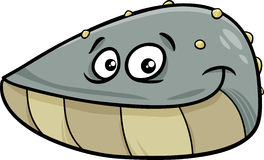 Mussel mollusk cartoon illustration Royalty Free Stock Photography