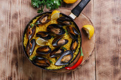 Mussel paella Royalty Free Stock Image