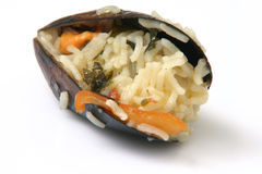 Mussel with rice Royalty Free Stock Photos