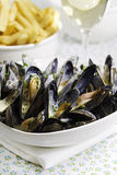 Mussel seafood dinner Royalty Free Stock Image