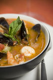 Mussel, Shrimp and Scallop Soup Stock Photos