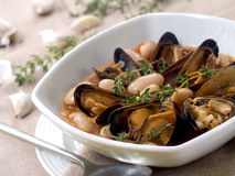 Mussel soup Stock Photo