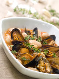 Mussel soup Stock Photos