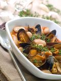 Mussel soup Royalty Free Stock Photos