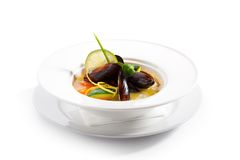 Mussel Soup Royalty Free Stock Images
