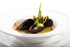 Mussel Soup Stock Image