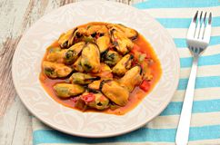 Mussel stew Stock Images