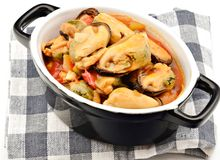 Mussel stew Royalty Free Stock Image